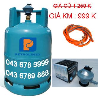 bộ bình gas petrolimex 13 van chụp