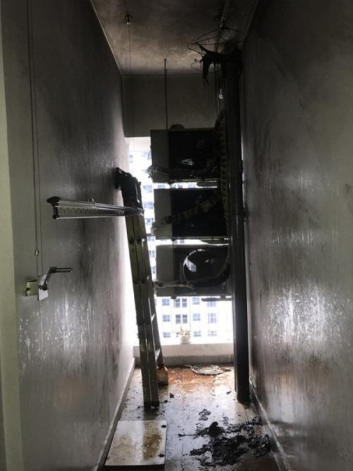 Vụ cháy chung cư gây thiệt hại về tài sản