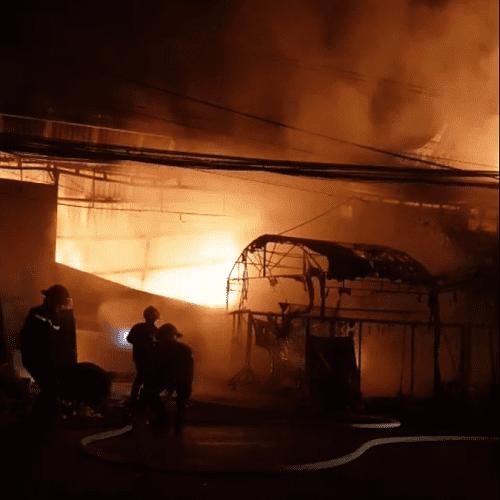 Vụ cháy lớn tại Long An