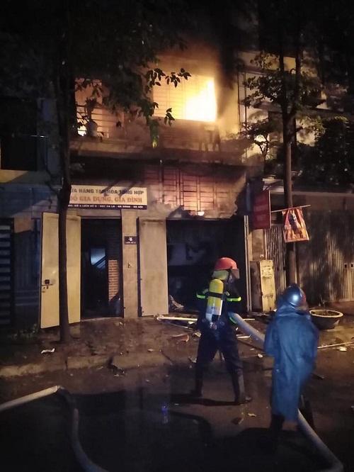 Xe cứu hỏa được điều động tới hiện trường