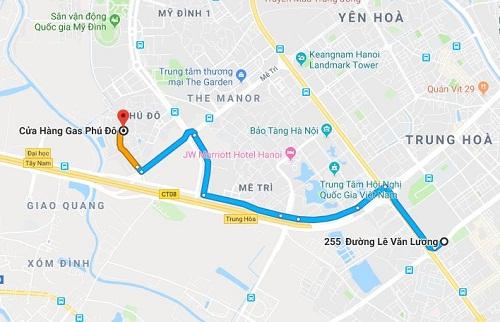 Cửa hàng gas Petrolimex cung cấp cho khu vực đường Lê Văn Lương