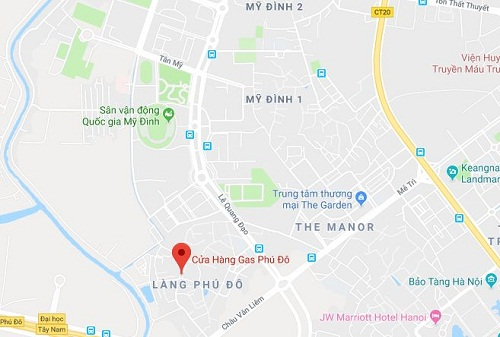 Cửa hàng gas Petrolimex cung cấp cho khu vực Mỹ Đình, Nam Từ Liêm, bao gồm cả đường Nguyễn Cơ Thạch