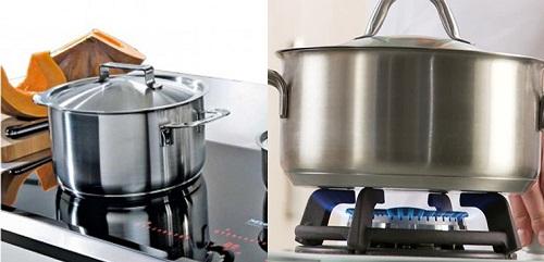 Dùng nồi bếp từ nấu bằng bếp gas không phải là lựa chọn kinh tế