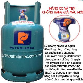 Bộ bình gas petrolimex 12kg van ngang