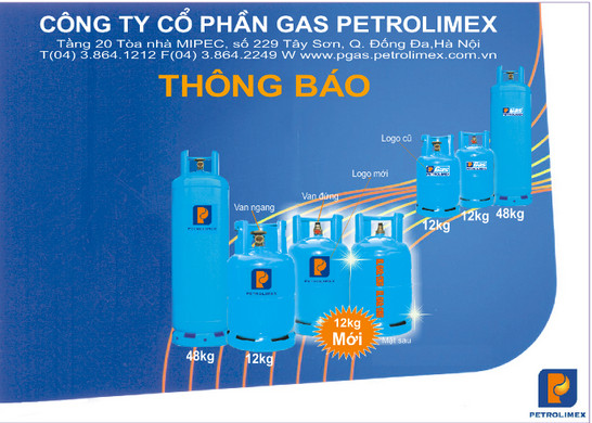 Gas petrolimex thay đổi logo cho bình gas dân dụng
