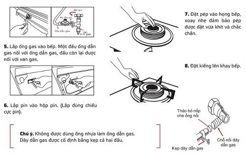 Một số lưu ý quan trọng khi lắp đặt bếp gas