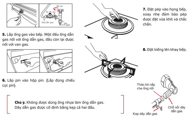 Cách lắp đặt bếp gas âm phù hợp