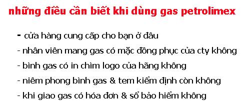 những điều cần biết khi sử dụng gas