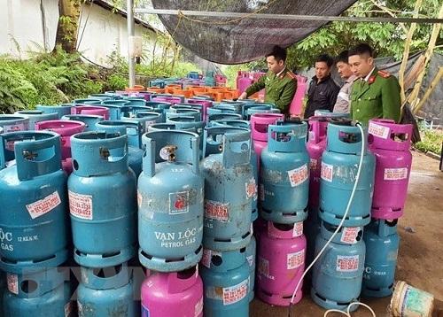 Cơ sở sang chiết gas trái phép tại Bắc Giang