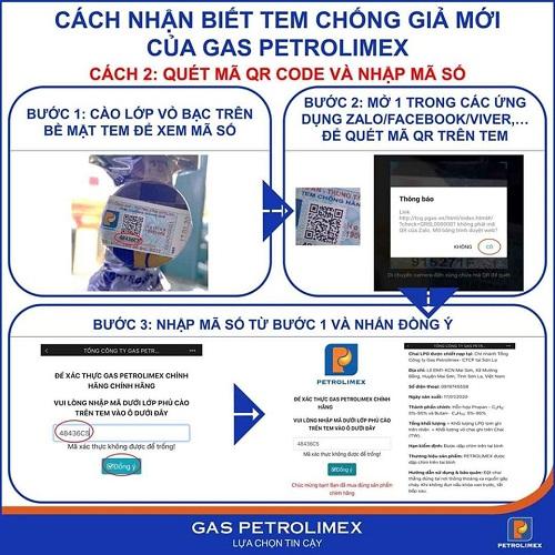 Nhận biết tem chống giả của gas Petrolimex