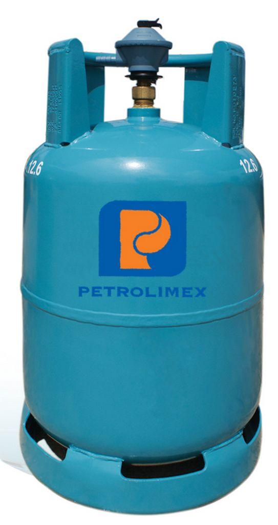 trọng lượng gas được in trên thân bình