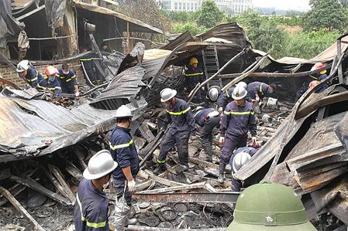 Hiện trường sau vụ cháy
